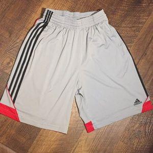 Adidas Shorts Grey Black & Red Large